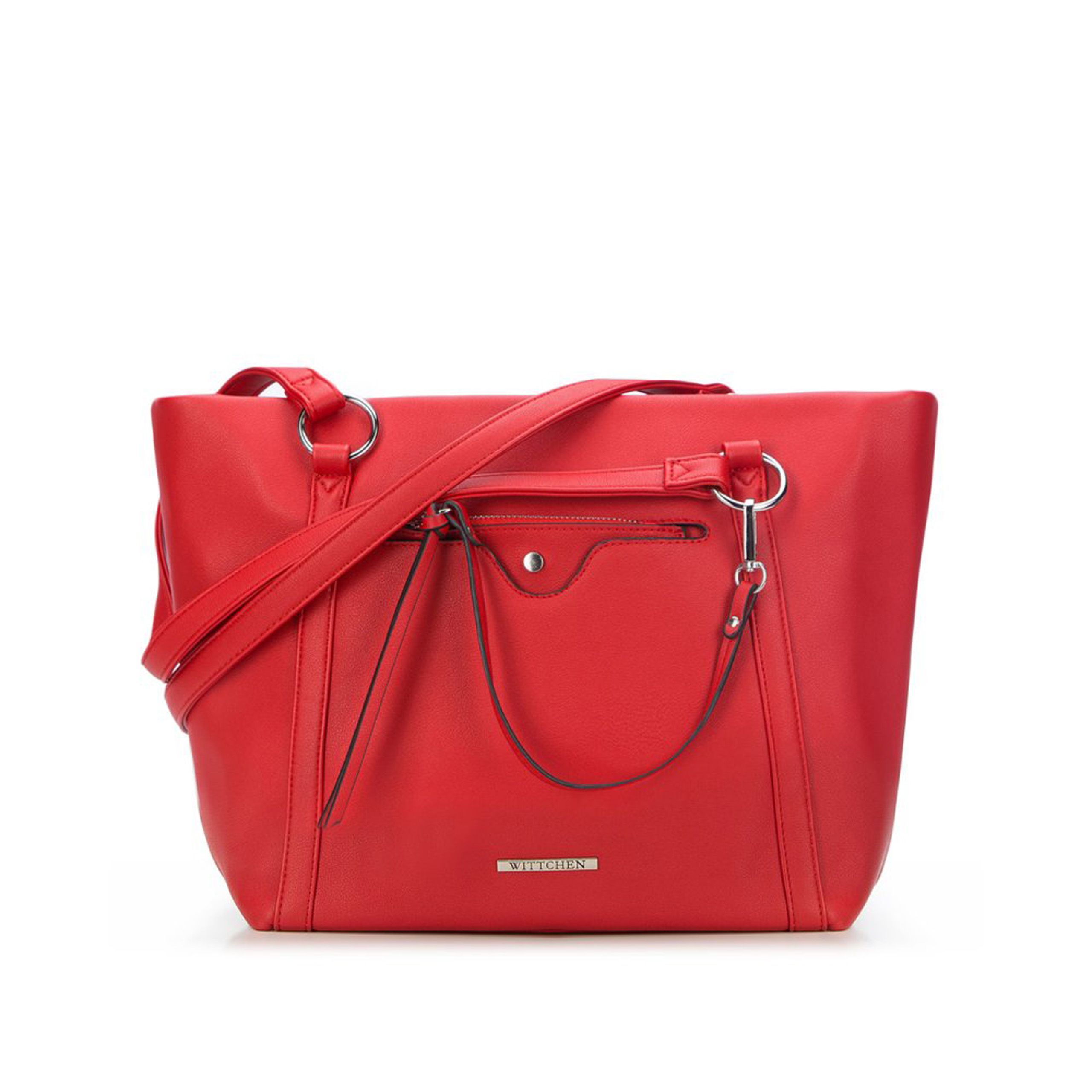 0b114ed08ca09 Torebka Wittchen Young Shopper Bag 87-4Y-405-3 czerwona - New Line